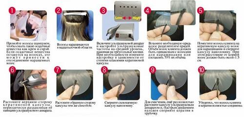 Технология ультразвукового наращивания волос