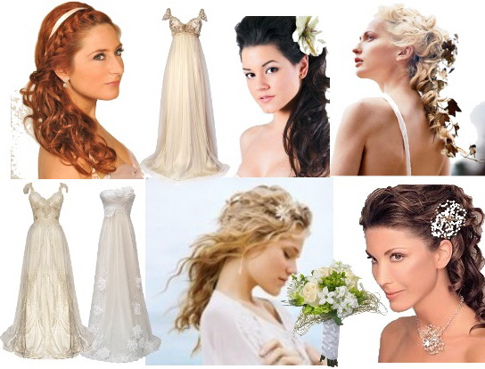 Свадебная прическа в греческом стиле
