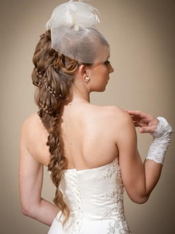 Свадебные прически с косами и фотой