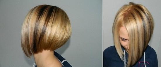 Стрижки на средние волосы фото боб вид сзади фото