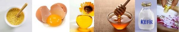 Ингредиенты для горчичной маски с кефиром / Маска для волос с горчицей