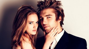 Прически мужчина и женщина