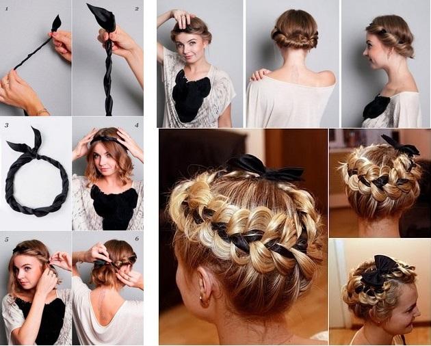 Прически на средние волосы в греческом стиле
