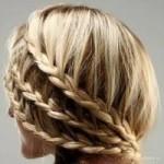 Прически на средние волосы косы