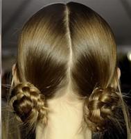 Прически на средние волосы пучки из кос