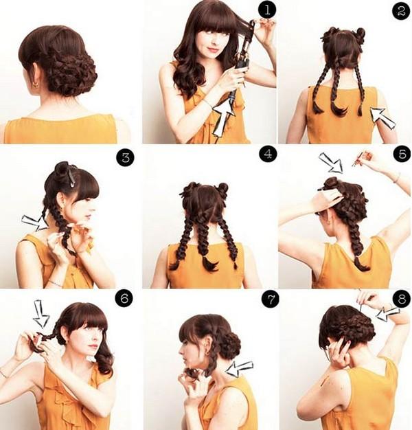 Косы на длинные волосы со спрятанными концами