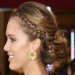 Вечерние прически на средние волосы французская коса