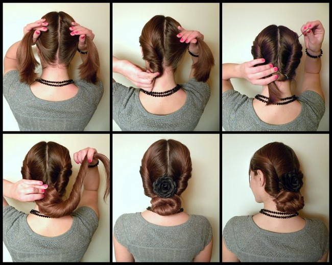 Вечерние прически на длинные волосы пучок