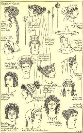 Греческая прическа варианты