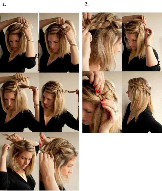 Французская коса в греческом стиле