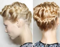 Прическа с косами венок