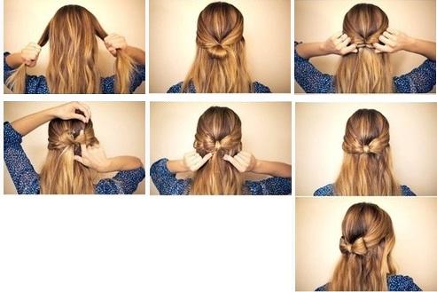 Бант из волос своими руками
