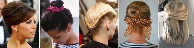 Прическа на каждый день на средние волосы