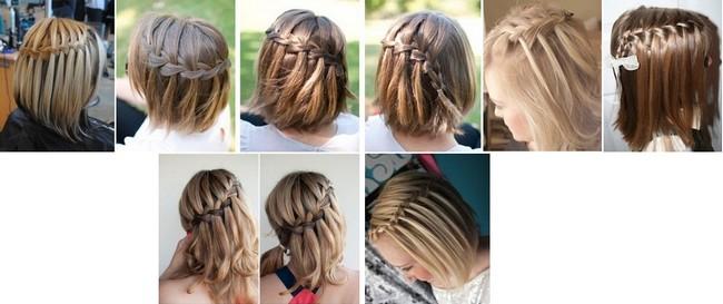 Водопад на средние волосы пошагово