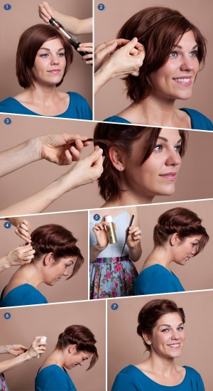 Греческая прическа на средние волосы