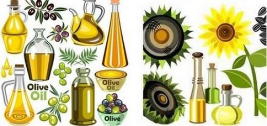 Оливковое подсолнечное масло
