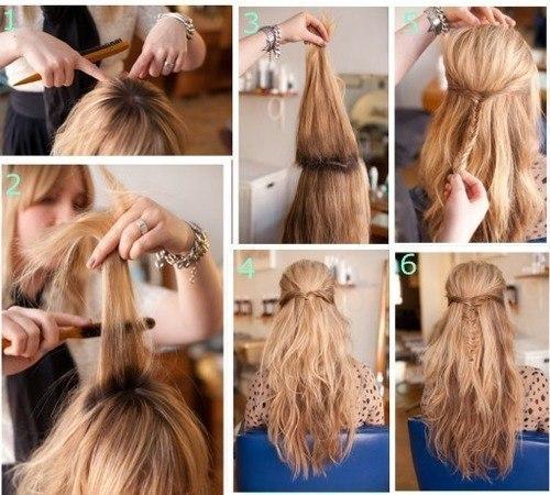 Простые прически на каждый день с распущенными волосами