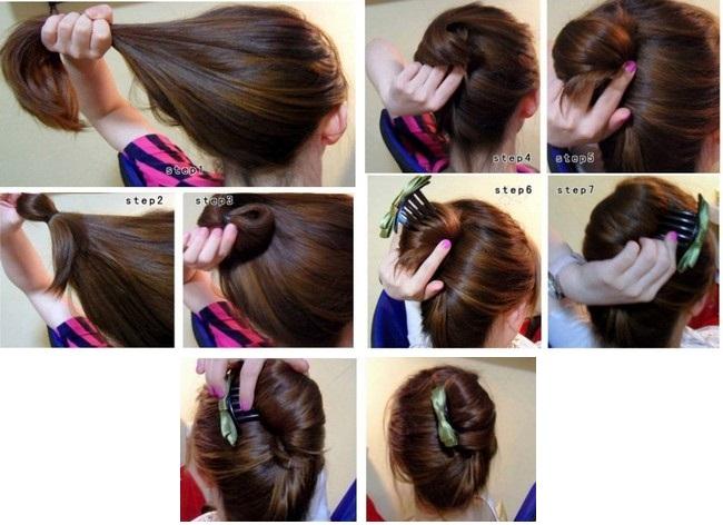 гребень с губкой для волос прически