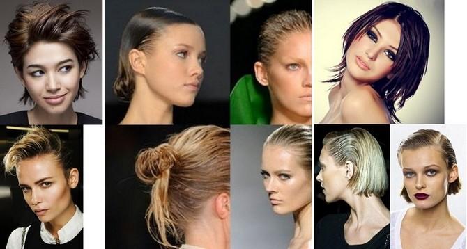 вечерние прически на короткие волосы эффект мокрых волос