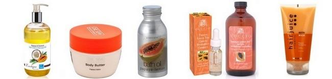 Средства ухода за волосами с маслом папайи