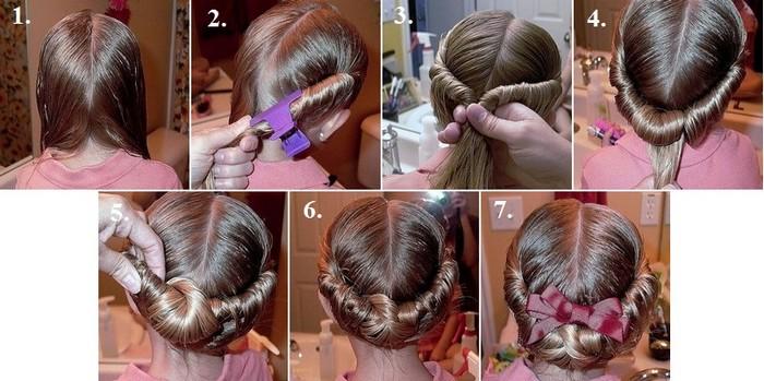 Греческая девочке на длинные волосы