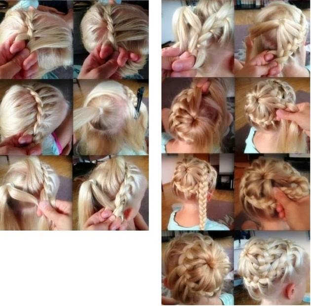 Плетение кос девочке на длинные волосы