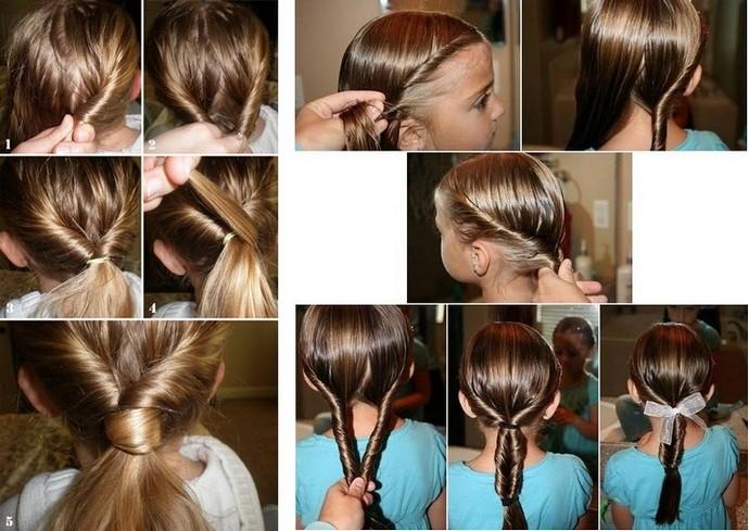 Очень лёгкие причёски для девочек