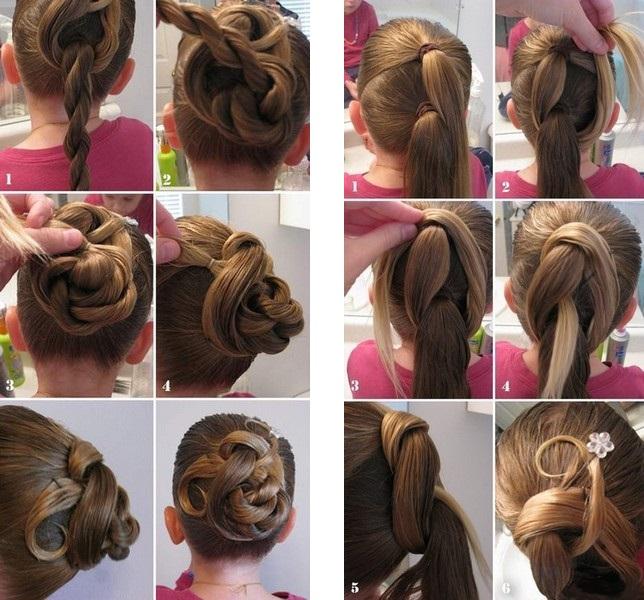 Укладка для длинных волос дети