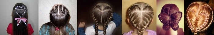 Сердечки из кос для девочек