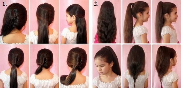 Как сделать прическу пошаговое фото девочкам