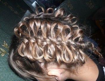 Бантики из кос для девочек