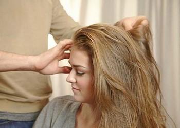 Укладка муссом для волос