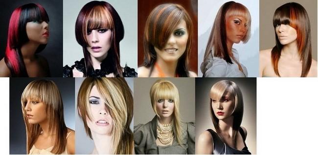 прически на длинные волосы асимметрия окрашенные