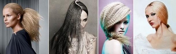 прически на длинные волосы гофрированная