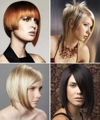 прическа на средние волосы асимметрия