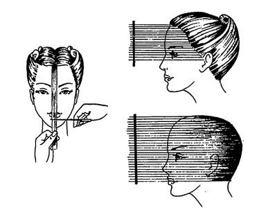 Лесенка на длинные волосы схема стрижки