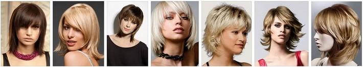 Женские прически на средние и длинные волосы