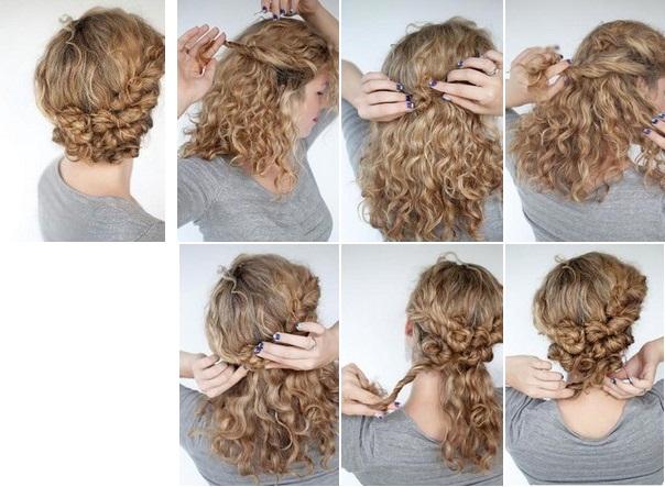 Как сделать волосы кудрявыми прически 73