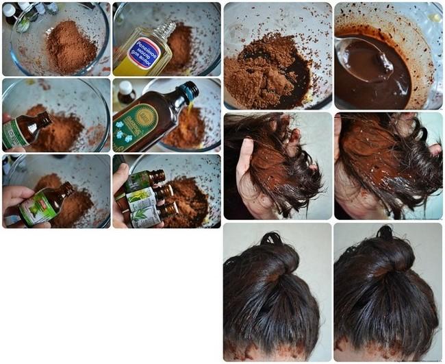 Какао маска для волос, маска для волос с какао