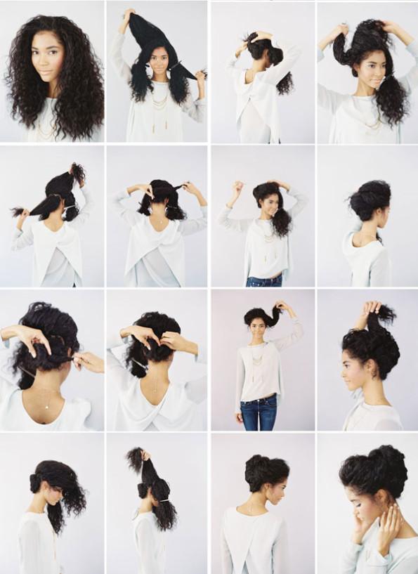 Красивые прически для кудрявых волос своими руками из 911