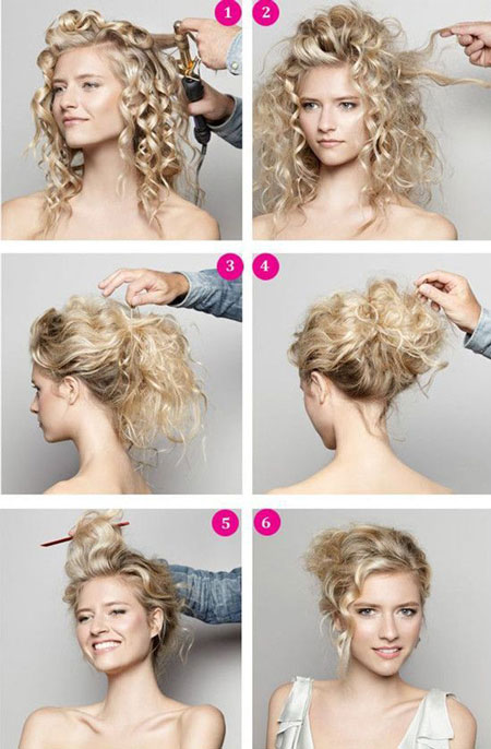 Прически на кудрявые волосы свадебные
