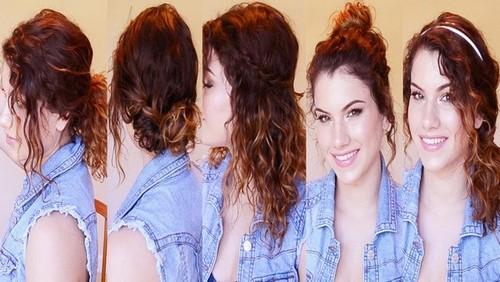 Прически на кудрявые длинные волосы