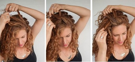 Сделать прическу на кудрявые волосы