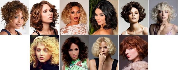 Прически на кудрявые средние и длинные волосы