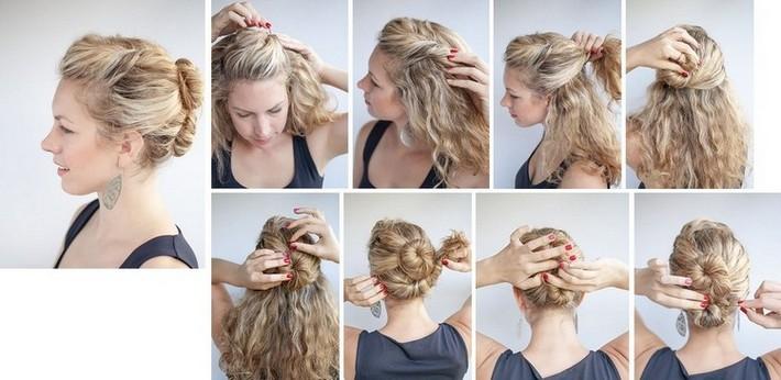 Прическа косички две на волнистые волосы
