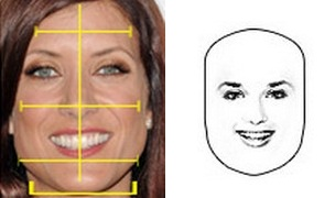 Прямоугольная форма лица