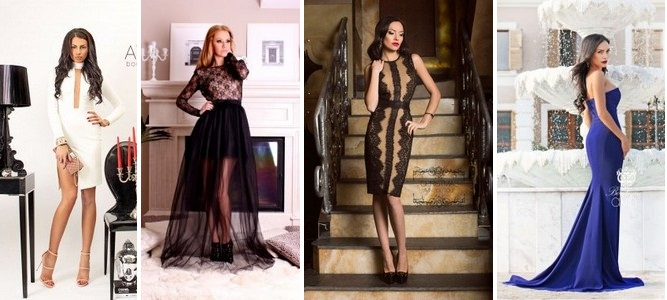 Вечерние платья и вечерние прически