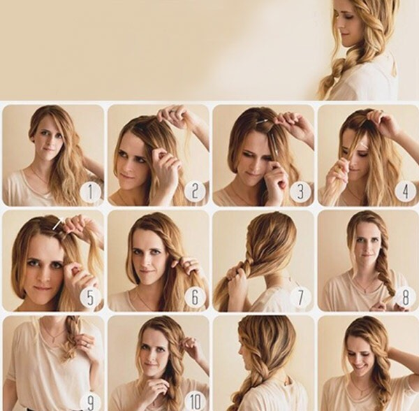 Простые прически на средние и длинные волосы