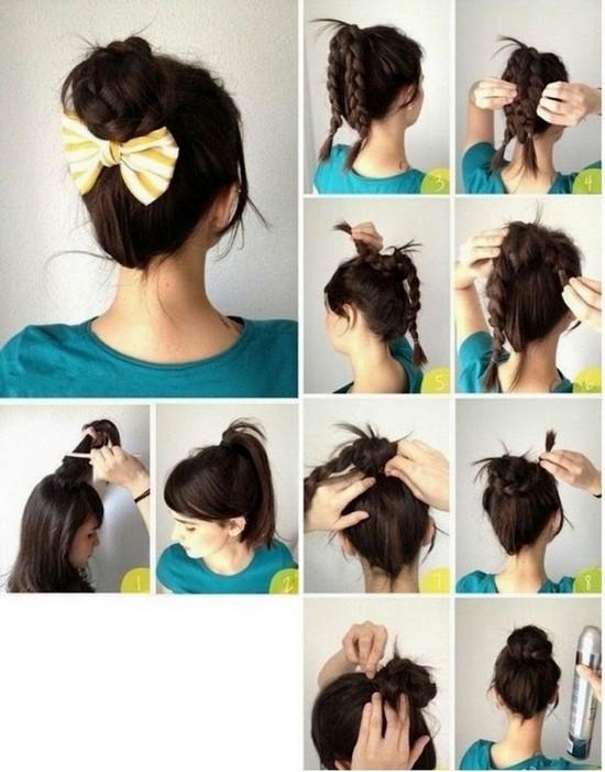 Простые прически для средних и длинных волос