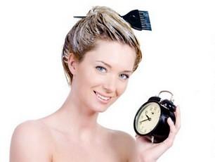Время выдержки краски на волосах